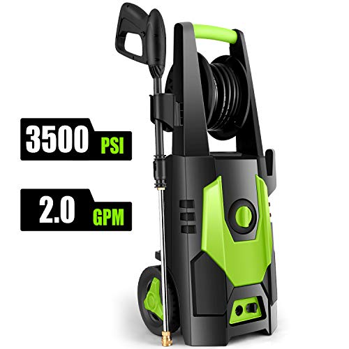 CHAKOR Pressure Washer 3500 PSI, 2.0GPM Power Washer Machine, 1800W High Pressure Cleaner with 4 Adjustable...