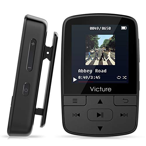 Victure MP3 Player Clip Bluetooth 8G with FM Radio Sport Pedometer Voice Recorder Earphones Expandable up to...