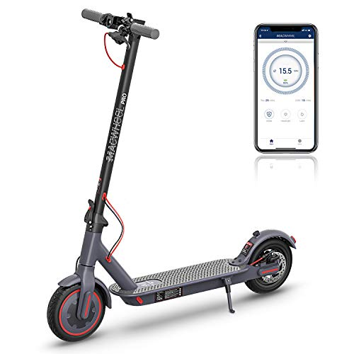 Macwheel Electric Scooter, 25 Miles Long Range Battery, Powerful 350W Motor, Max Speed up to 15.5mph, 8.5'...