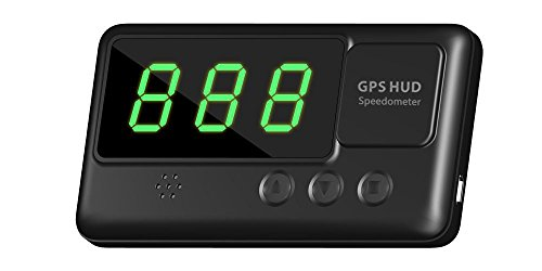 Oxygentle Universal Car HUD Head-up Display GPS Speedometer with Overspeed Alarm Tired Driving Warning...
