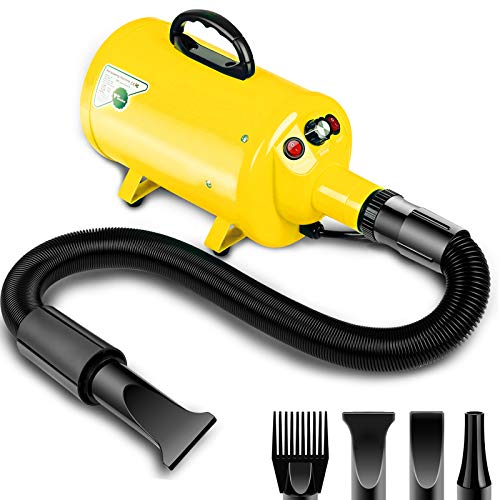 amzdeal Dog Dryer 3.8HP/2800W Stepless Adjustable Speed Dog Hair Dryer, Home Use/Professional Pet Grooming...