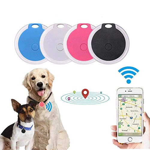 Soluoc Mini Dog GPS Tracking Device Locator Round Portable Bluetooth Intelligent Anti-Lost Device for...