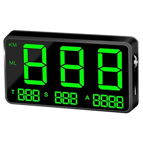 GPS Speedometer Speedometer Car HUD Head Up Display, KM/H MPH Speed Alarm, USB Charger Available, for All...