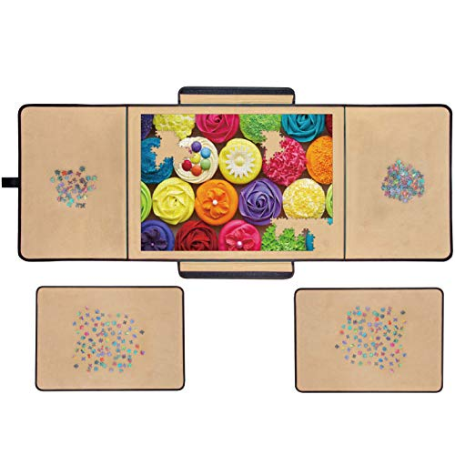 Jigsaw Puzzle Board Portable Puzzle Mat, Store and Transport Jigsaw Puzzles Up to 1000 Pieces, Non-Slip...