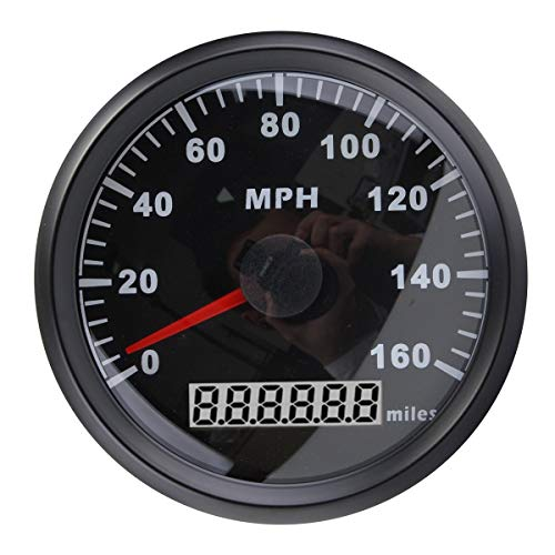 ELING Universal MPH GPS Speedometer Odometer 160MPH for Car Motorcycle Tractor Truck with Backlight 85mm...