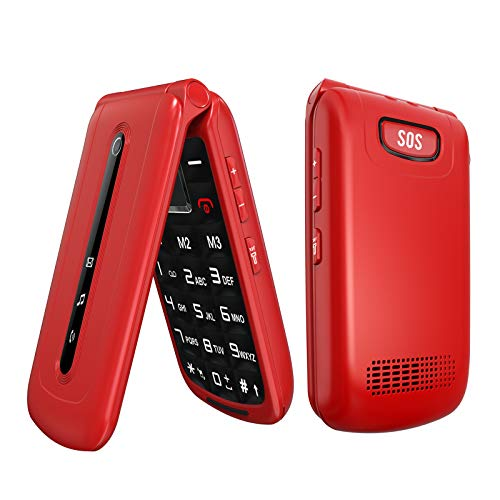 Ushining Flip Phone Unlocked 3G SOS Big Button Tmobile Flip Phone Dual SIM Card Slots Basic Cell Phones Large...