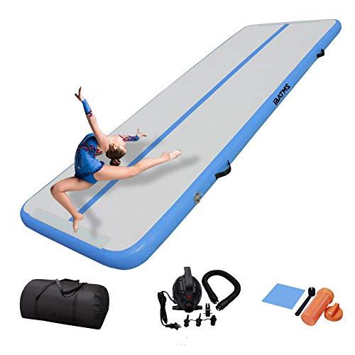 DAIRTRACK IBATMS Air Tumbling Mat,10ft/13ft/16ft/20ft Inflatable Gymnastics Air Mat for Gymnastics...