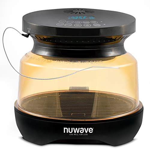 NUWAVE PRIMO Grill Oven with Integrated Digital Temp Probe for PERFECT Results, Convection Top & Grill Bottom...