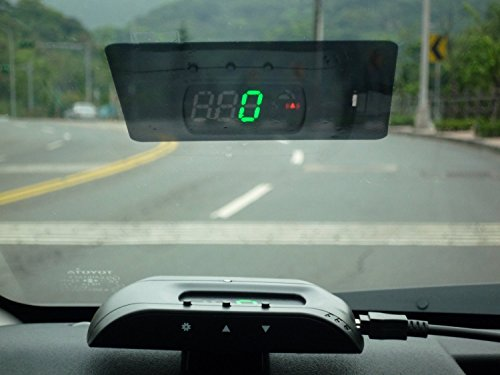 GPS HUD Universal Head-Up Display with Speedometer Km/h,MPH - Dashboard Windshield Projector with Color...
