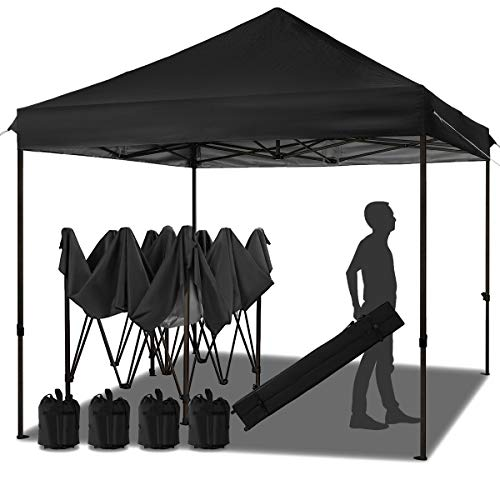 MEWAY 10ft Patio Awning Garden Shade Commercial Ez Pop Up Canopy Tent Instant Canopy Party Tent Sun Shelter...
