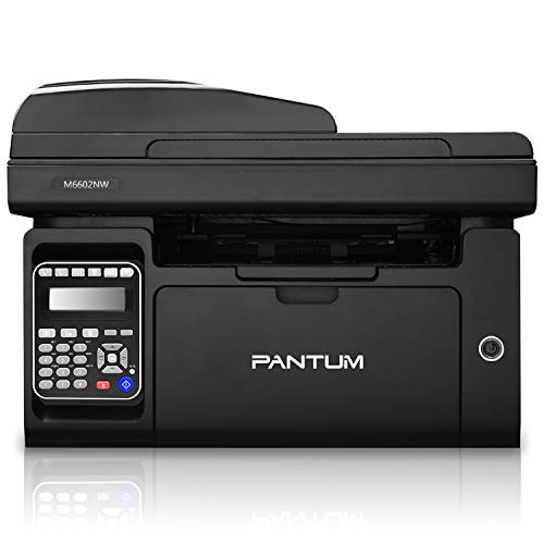 Pantum M6602NW All in One Monochrome Laser Multifunction Printer with Copier Scanner & Fax, Wireless...