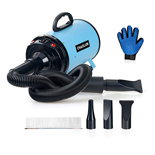 CHAOLUN Dog Dryer High Velocity Professional Pet Dog Blow Dryer 3.2HP - Dog Hair Grooming Dryer with Heater,...