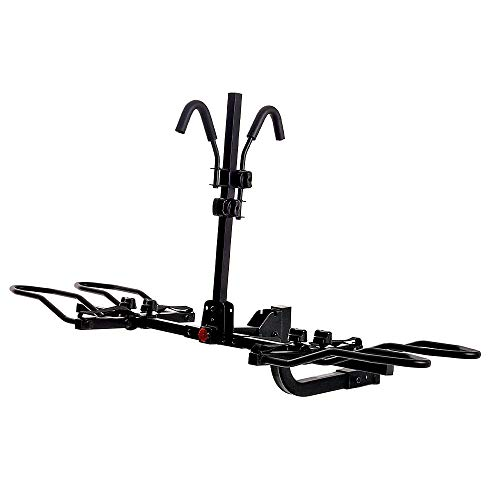 """KAC Overdrive Sports K2 2"""" Hitch Mounted Rack 2-Bike Platform Style Carrier for Standard, Fat Tire, and..."""