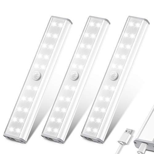 LED Closet Light, HOKEKI Wardrobe Light, Motion Sensor Light, with 20 LED Bulbs Under Counter Lights for...