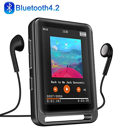 MP3 Player, Searick 16G MP3 Player with Bluetooth 4.2, 2.4' LCD Portable HiFi Lossless Sound Music MP3 Players...