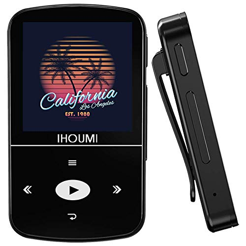 32GB MP3 Player, IHOUMI MP3 Player with Bluetooth, Portable Music Player with Clip, Sport Pedometer, FM Radio,...