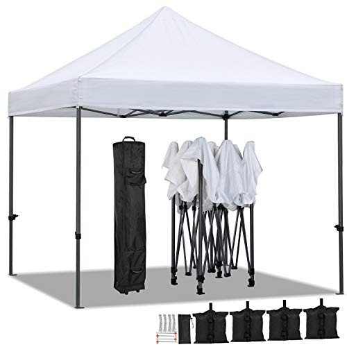 YAHEETECH 10 x 10 ft Pop Up Canopy Tent - Heavy Duty Commercial Event Tent Pavilion Portable Waterproof Canopy...