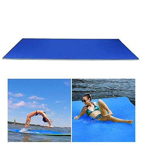 Topaty Floating Water Pad Durable Water Foam Mat, 3-Layer Tear-Resistant Water Floating Mat, Roll-up Floating...