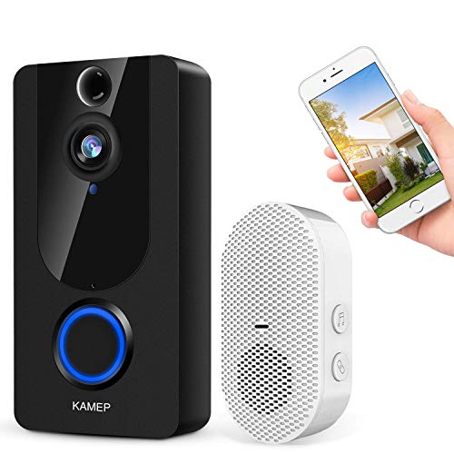 Wireless Video Doorbell Camera 1080P Smart Home Security System with Real Time Push Alerts Night Vision...
