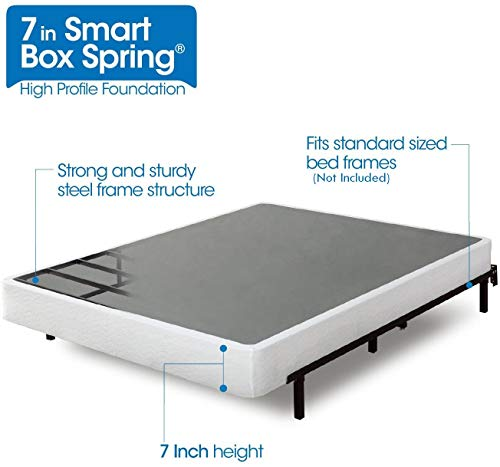Zinus Armita 7 Inch Smart Box Spring / Mattress Foundation / Built-to-Last Metal Structure / Easy Assembly,...