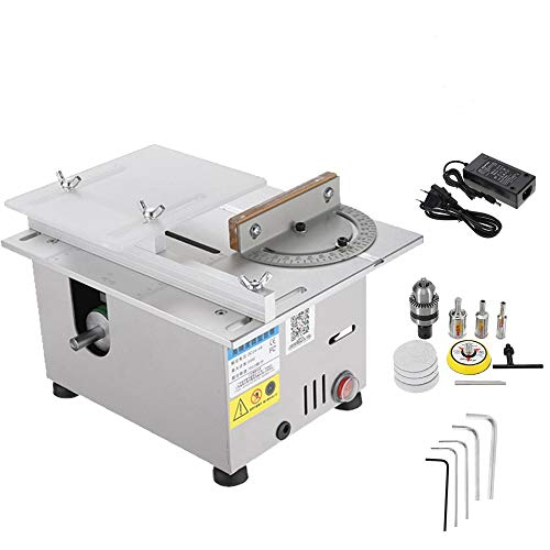 Upgrade Version Table Saw Mini Precision Table Saws DIY Wood Working Lathe Polisher Drilling Machine for DIY...