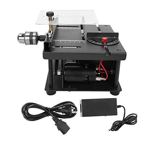 Table Saw Cutting Set, 110‑240V US Plug Mini Hobby Table Saw with 35mm Cutting Depth, Lathe Polisher...