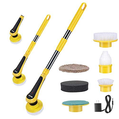 Electric Spin Scrubber, iMartine Cordless Shower Scrubber Super Powered with 6 Replaceable Cleaning Bathroom...