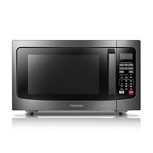 Toshiba EM131A5C-BS Microwave Oven with Smart Sensor Easy Clean Interior, ECO Mode and Sound On-Off, 1.2 Cu....
