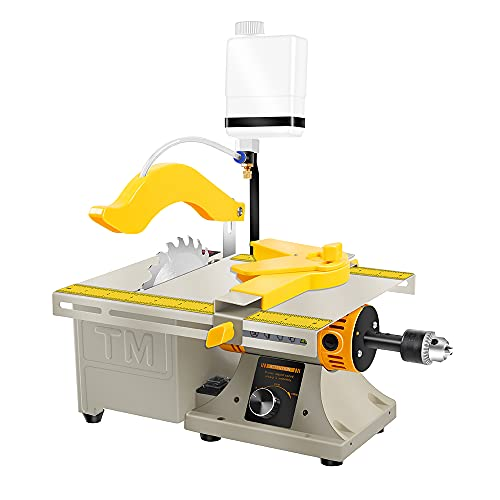 LIBAOTML Mini Table Saw for Hobbies - Small Multipurpose Woodworking Table Top Saw - Portable Hobby Cutting...