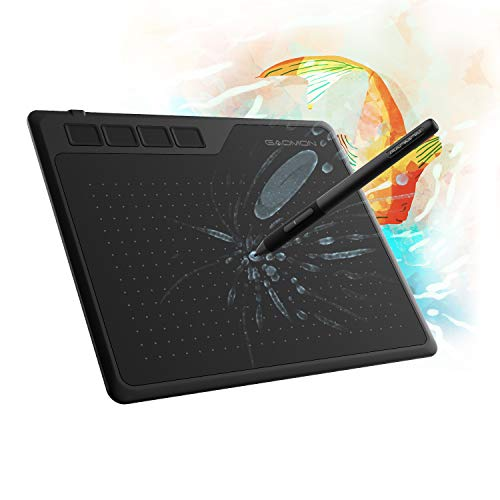 GAOMON S620 6.5 x 4 Inches Graphics Tablet with 8192 Passive Pen 4 Express Keys for Digital Drawing & OSU &...