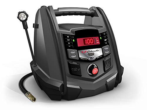 Schumacher Rechargeable AGM Jump Starter and Portable USB/DC Power Station - 1200 Amp - with Air Compressor...