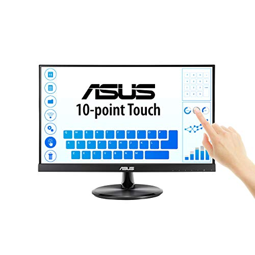 ASUS VT229H 21.5' Monitor 1080P IPS 10-Point Touch Eye Care with HDMI VGA, Black