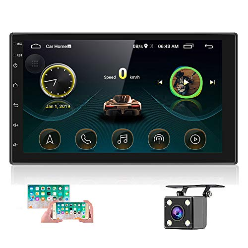 Double Din Android Car Stereo with GPS 7 InchTouch Screen Car Radio Bluetooth Supports Mirror Link for...