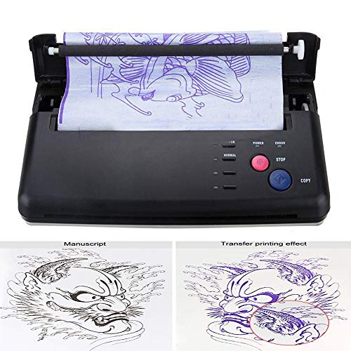 Pro Black Tattoo Transfer Copier Printer Machine Thermal Stencil Paper Maker with Five Functional Buttons