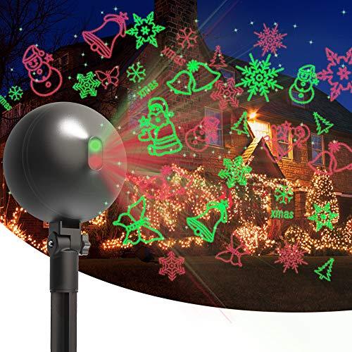Christmas Laser Lights Projector Outdoor Lazer Projection Light Waterproof Projectors Led Landscape Spotlight...