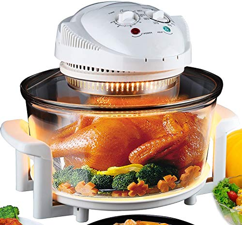 Electric Air Fryer Turbo Convection Oven Roaster Steamer,Halogen Oven Countertop Great for French Fries &...