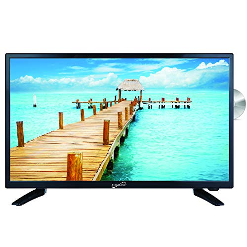 SuperSonic SC-2412 LED Widescreen HDTV & Monitor 24', Built-in DVD Player with HDMI, USB, SD & AC/DC Input:...