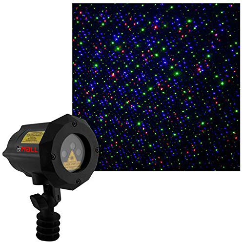 LedMall Moving Firefly Red, Green, and Blue Outdoor Laser Garden and Christmas Lights with remote control and...