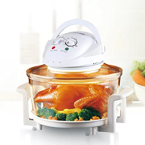 Rosewill R-HCO-15001 Infrared Halogen Convection Oven with Stainless Steel Extender Ring, 12.6-18 Quart,...