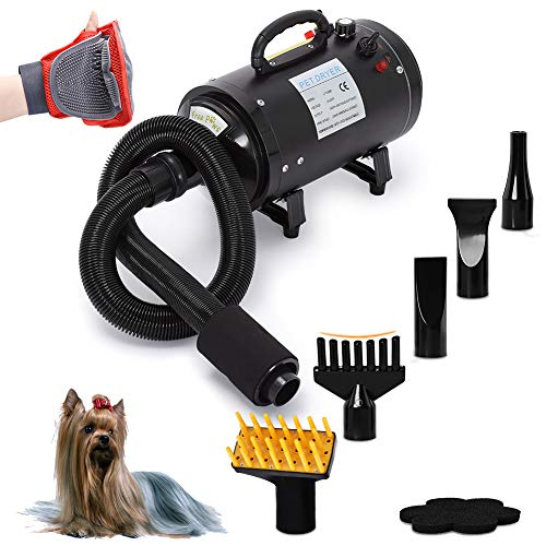 Free Paws Dog Dryer 4.0 HP 2 Speed Adjustable Heat Temperature Pet Dog Grooming Hair Dryer Blower Professional...