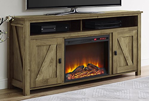Ameriwood Home Farmington Electric Fireplace TV Console for TVs up to 60', Natural -