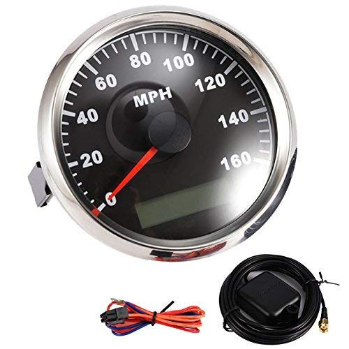 Partol MPH GPS Speedometer Odometer Digital Speed Gaug 160MPH With Backlight Waterproof Universal for Car...