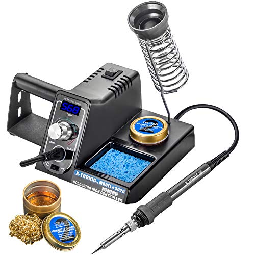 X-Tronic Model #3020-XTS Digital Display Soldering Iron Station - 10 Minute Sleep Function, Auto Cool Down,...