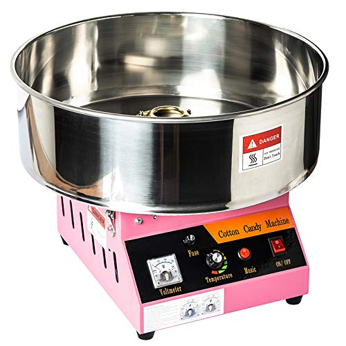 Display4top Tabletop Commercial Electric Cotton Candy Machine Sweet Sugar Candy Floss Maker,With Lights and...