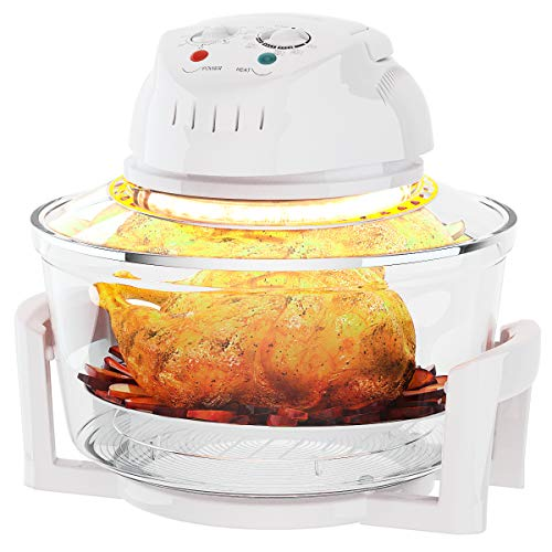 COSTWAY Infrared Halogen Convection Oven with Stainless Steel Extender Ring, 12.68-18 Quart, 1300W, Cooker...