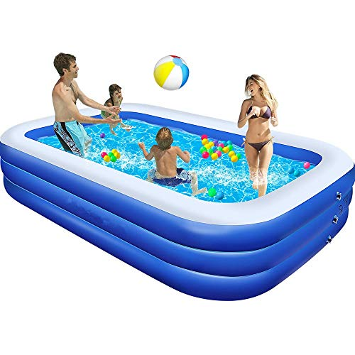 Swimming Pools,Large Family Pool 120'X72'X24', Inflatable Pool For Kids and Adults, Thickened Resistant...