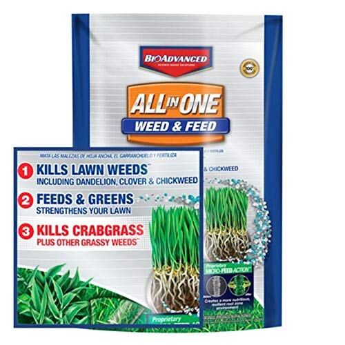 BioAdvanced 100532518 Bayer All-in-One Weed & Feed with MicroFeed Action, 12 lb Weed and Feed, 12-Pounds,...
