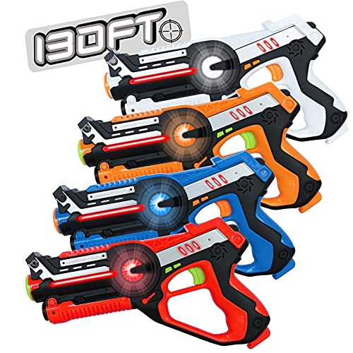 HISTOYE Laser Tag Guns Set of 4 Lazer Tag Set for Kids Adults with 4 Player Infrared Laser Tag for Teens...