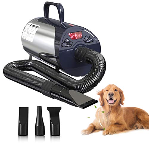 Newest Dog Dryer Professional Grooming Dog Hair Dryers For Dogs With Led Screen High Velocity Dog Blower Dryer...