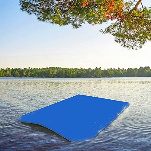 Pool Floating Water Mat Foam Water Floating Pad Lily Pad 10 x 5 FT with Storage Straps, Portable Giant Floats...